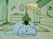 Густав воспитывает кота
