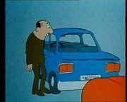 Густав попадает в аварию