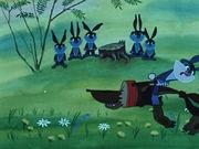 Сказка про храброго зайца...